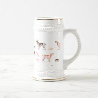 Stein italiano de la cerveza del spinone taza de café