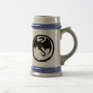Stein izquierdo del dragón negro tazas