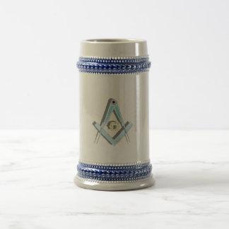 Stein ligero masónico jarra de cerveza