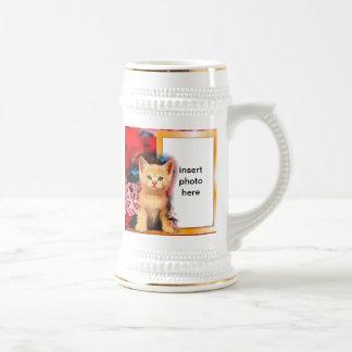 stein lindo del marco del gatito tazas de café