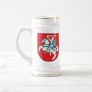 Stein lituano del escudo de armas jarra de cerveza