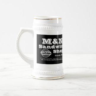 Stein - logotipo 2 (negro) de M&N Jarra De Cerveza