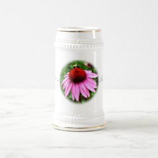 Stein - manosee la abeja en la flor, calma de la jarra de cerveza
