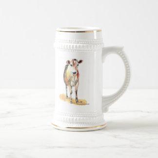 stein marrón de la cerveza de la vaca taza de café