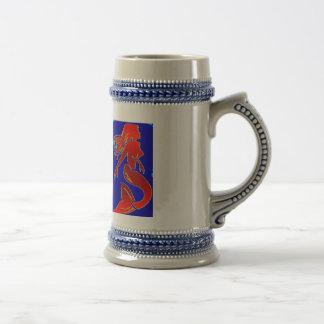stein modelo rojo de la sirena del estilo jarra de cerveza