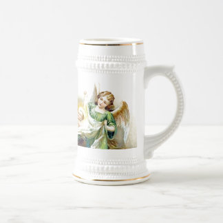 Stein, Mug, Cup, Mary and Baby Jesus and Angels Beer Stein