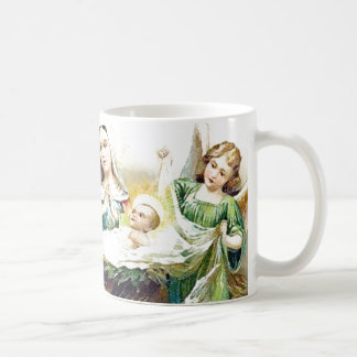 Stein, Mug, Mary, Baby Jesus and Angels the Manger