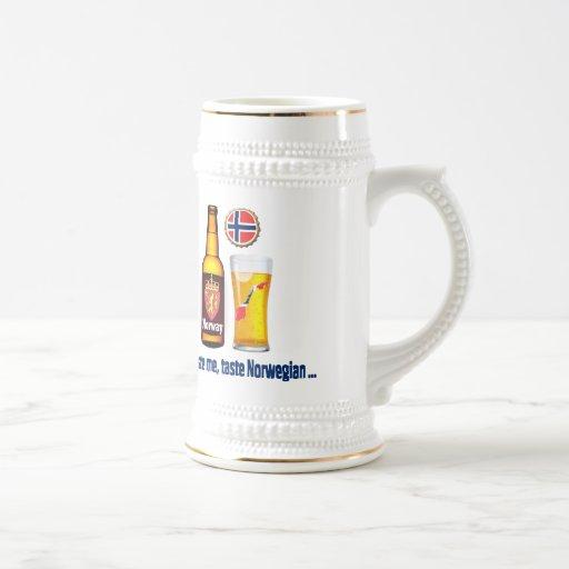 Stein noruego de la cerveza taza