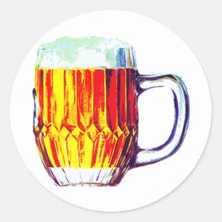 Stein of Ale Classic Round Sticker