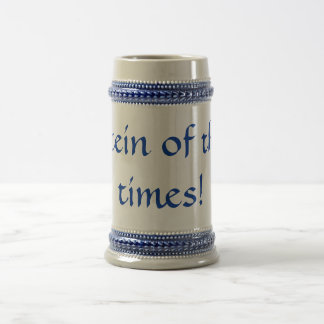 Stein of the times! 18 oz beer stein