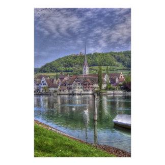 Stein on the River Rhine Custom Stationery