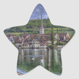 Stein on the River Rhine Star Stickers