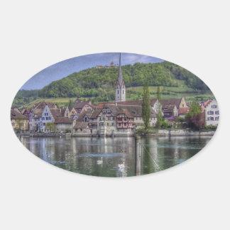Stein on the River Rhine Sticker