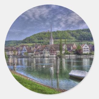 Stein on the River Rhine Round Sticker