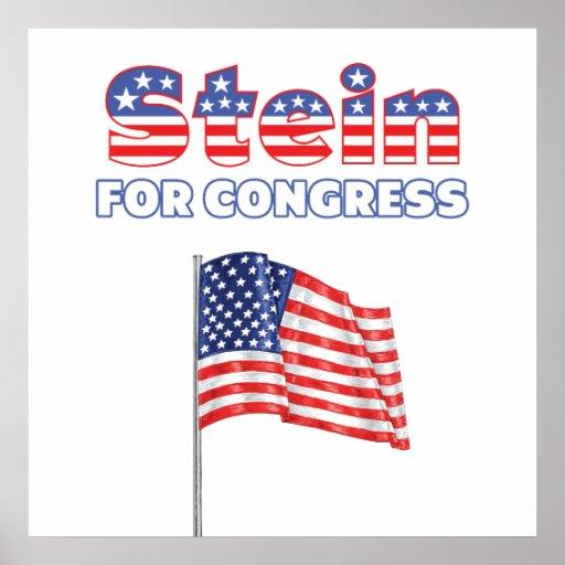 Stein para la bandera americana patriótica del con posters