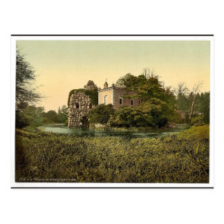 Stein, park of Worlitz, Anhalt, Germany classic Ph Postcard