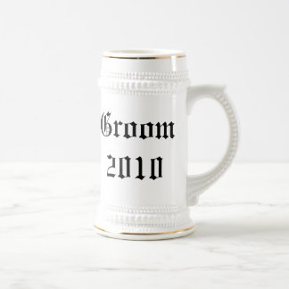 Stein personalizado del favor del boda del novio taza