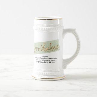 Stein personalizado personalizado jarra de cerveza