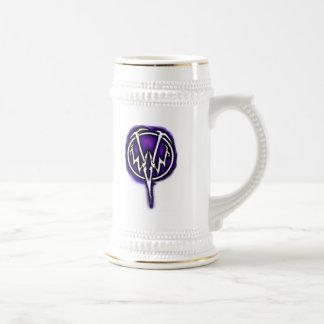 Stein púrpura del logotipo de WWV Jarra De Cerveza