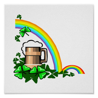 stein rainbows clover st patricks.png poster