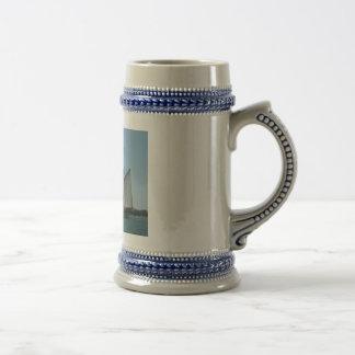 Stein-Ship-Blue-Trimming 18 Oz Beer Stein