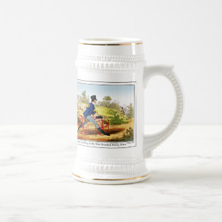 Stein: The Hobby Horse:  Bicycle Prototype Beer Stein