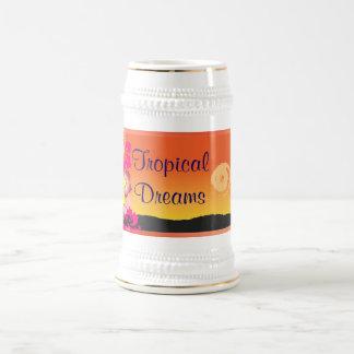 stein tropical de los sueños jarra de cerveza