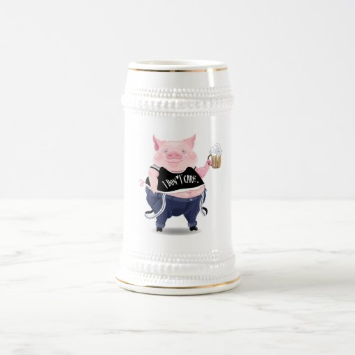 Stein  with funny pig picture mugs