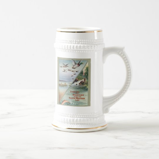 Stein with Hunting and Fishing Design