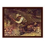 Steinhauer de Courbet Gustavo Postal