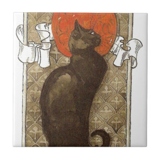 Steinlein's Cat - Art Nouveau Ceramic Tile