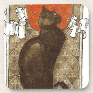 Steinlein's Cat - Art Nouveau Coaster