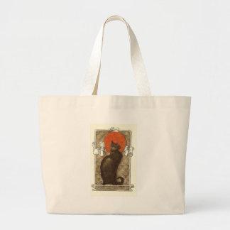 Steinlein's Cat - Art Nouveau Large Tote Bag