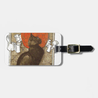 Steinlein's Cat - Art Nouveau Tag For Luggage
