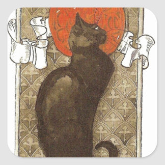 Steinlein's Cat - Art Nouveau Square Sticker
