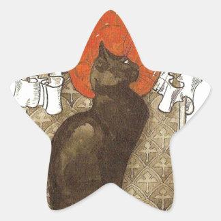 Steinlein's Cat - Art Nouveau Star Sticker