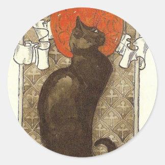 Steinlein's Cat - Art Nouveau Classic Round Sticker