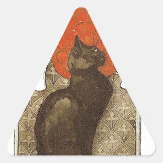 Steinlein's Cat - Art Nouveau Triangle Sticker