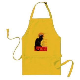 Steinlen Black Cat Adult Apron