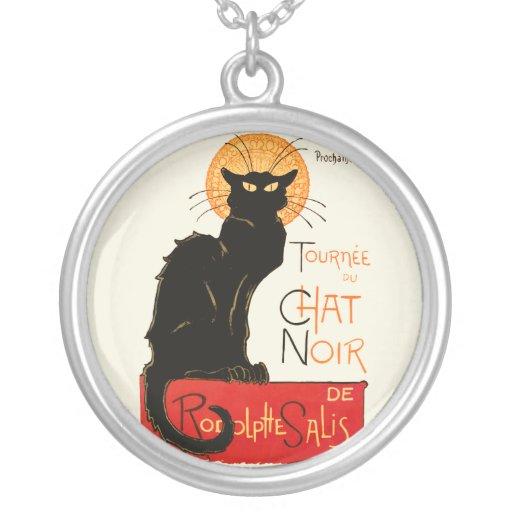 Steinlen Black Cat Custom Necklace