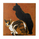 """Steinlen Cats Ceramics Ceramic Tile<br><div class=""""desc"""">Created by Theophile Alexandre Steinlen in the early 1900&#39;s.</div>"""