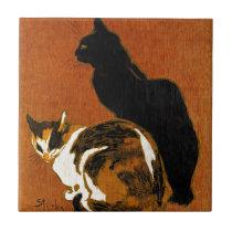Steinlen Cats Ceramics Ceramic Tile