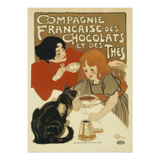 Steinlen - Cats: Compagnie Francaise des Chocolats Poster