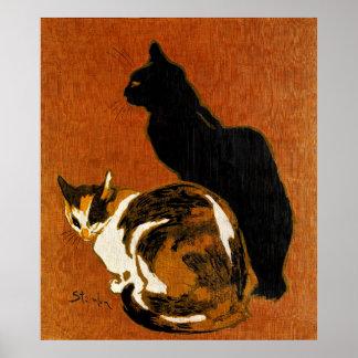 Steinlen Cats Poster