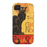 Steinlen: Charla Noir iPhone 4/4S Fundas