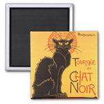 Steinlen: Chat Noir 2 Inch Square Magnet