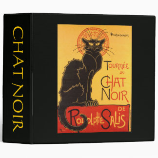 Steinlen: Chat Noir 3 Ring Binder