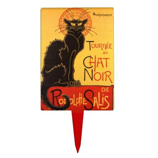 Steinlen: Chat Noir Rectangle Cake Topper