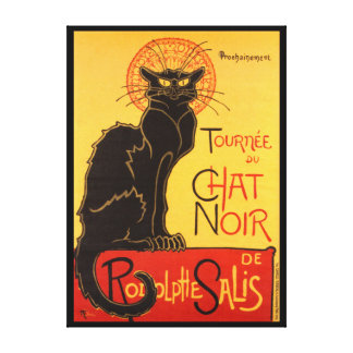 Steinlen: Chat Noir Canvas Print