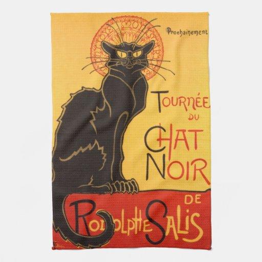 Steinlen: Chat Noir Towels